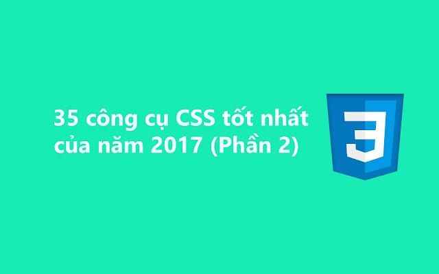 35 công cụ CSS tốt nhất cho năm 2017 (Phần 2)