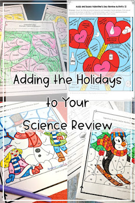 review activities help science teachers tie content to the holidays allow students to have fun while learning