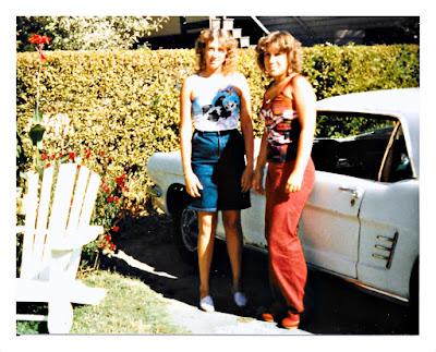 Natalie D. Moore (aka Tasha Thomson) and her sister, Marie (aka Rhea) of Pacifica, California hanging loose in the early 1980's at 10185 River Drive in Forestville, California