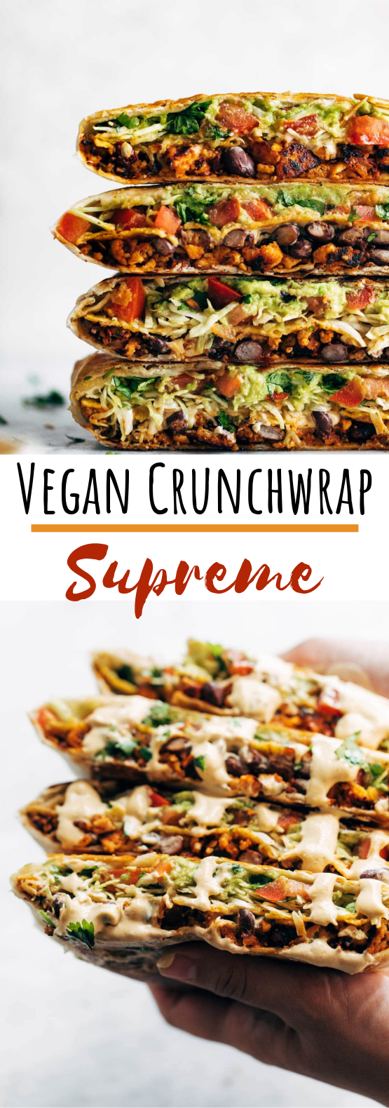 Vegan Crunchwrap Supreme #lunch #vegetarian