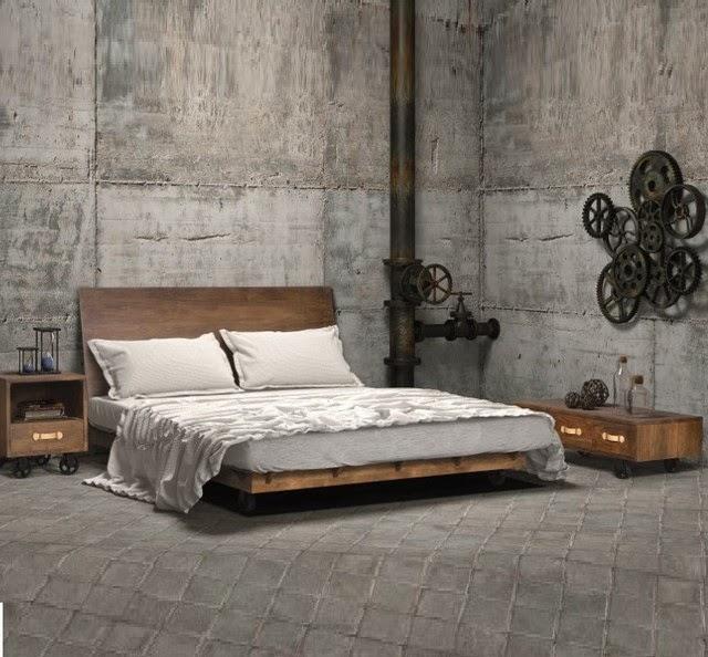 Decoraci n de dormitorios estilo industrial - Estilos de pintar paredes ...