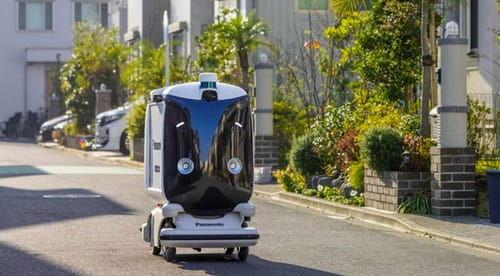 Panasonic is testing Japan's response to delivery robots