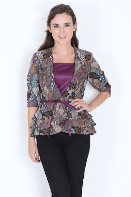 Model Baju Blazer Batik Semar Terbaru