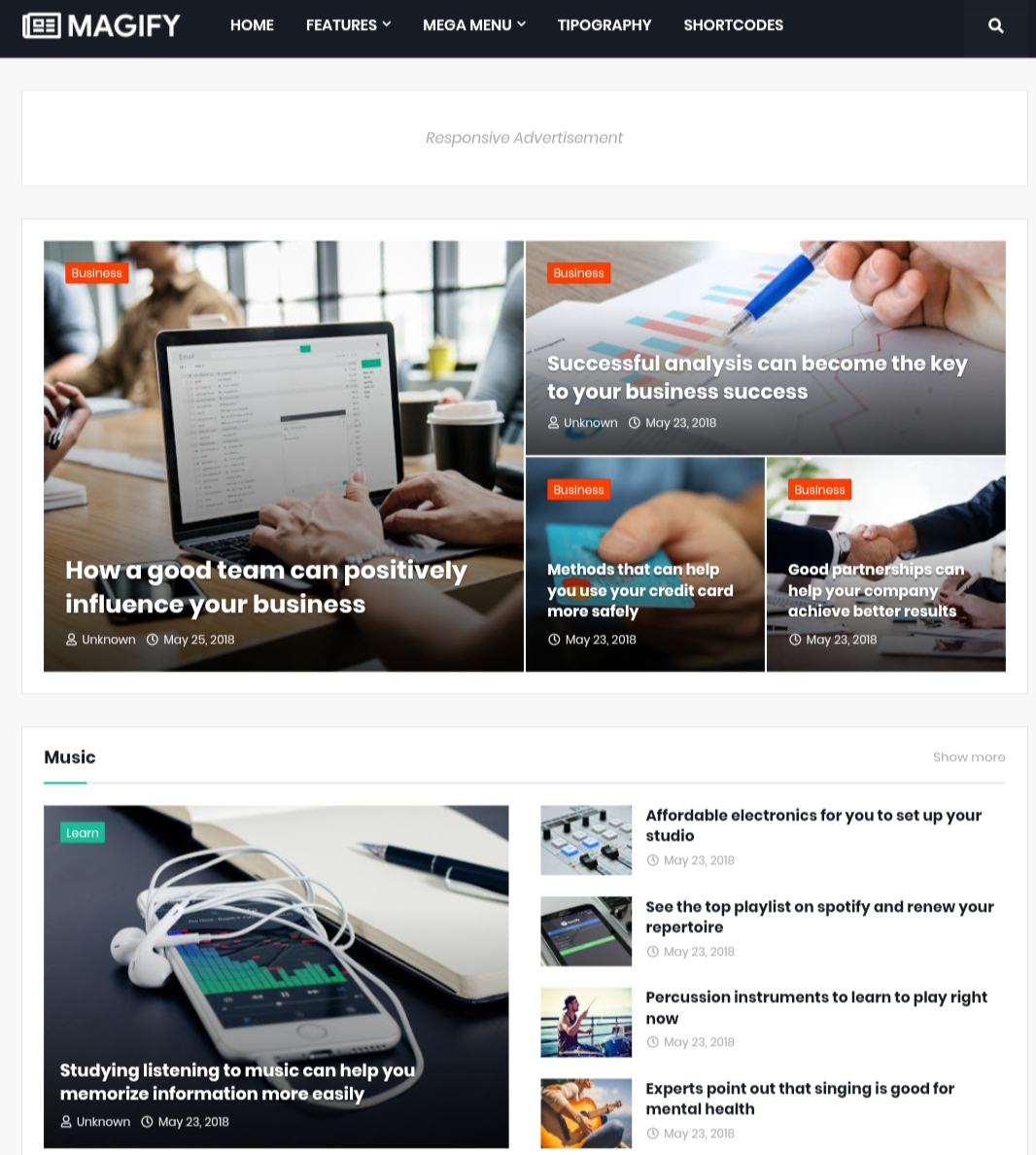 Magify Premium blogger template Free download.