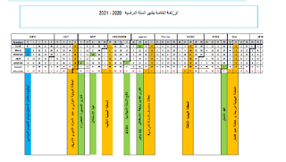 الرزنامة الخاصة بتدبير السنة الدراسية 2020 2021