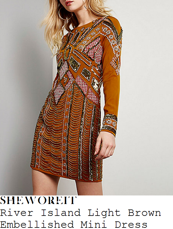 lydia-bright-river-island-light-brown-aztec-sequin-and-bead-embellished-long-sleeve-open-back-mini-dress