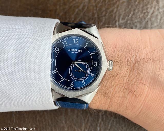 Lesablier Sport Classic Blue Sunburst wrist