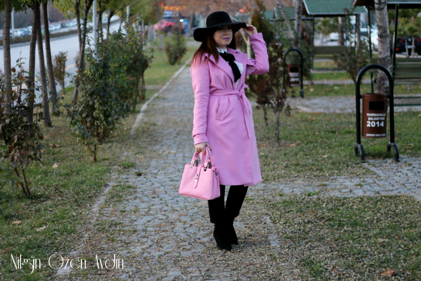 Pembe Trençkot-moda blogu-fashion blogger