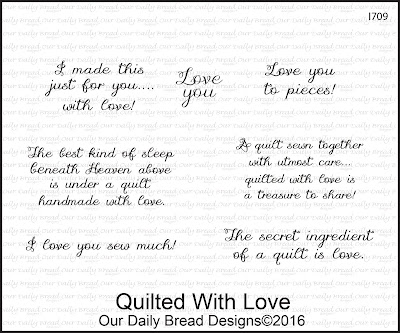 Our Daily Bread Designs Stamp Set: Quilted With Love