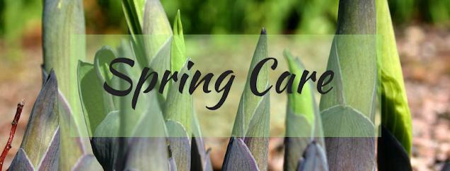 Spring Care sign for hostas