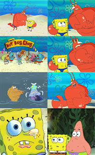Polosan meme spongebob dan patrick 55 - spongebob dan larry jadi penjaga pantai.