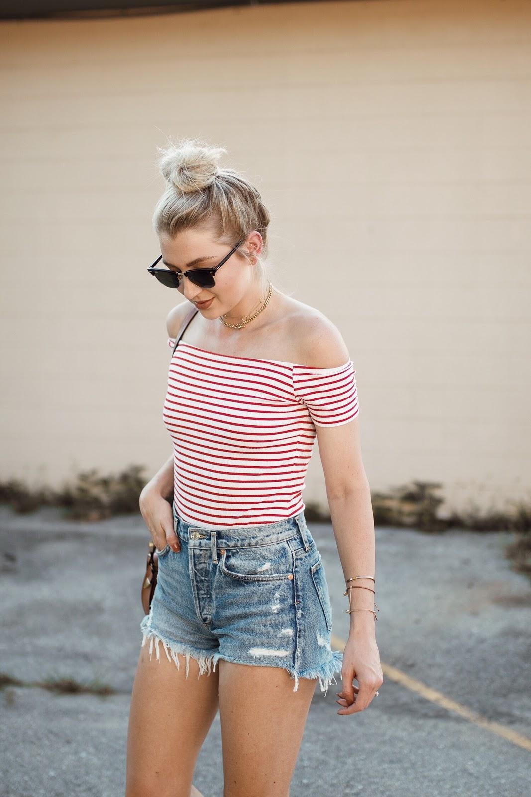 ASOS stripe bodysuit, $23