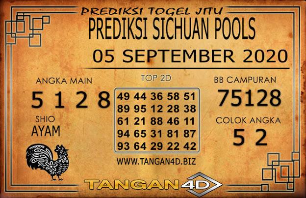 PREDIKSI TOGEL SICHUAN TANGAN4D 05 SEPTEMBER 2020