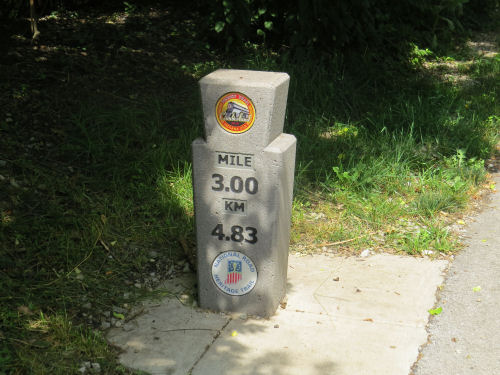 Pennsy Trail mile marker