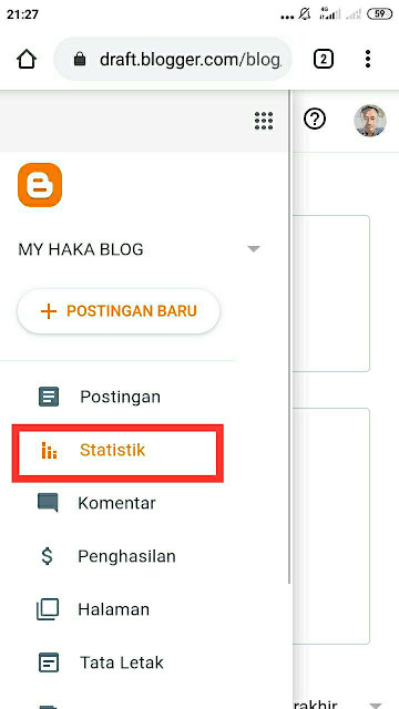 mematikan tayangan blog sendiri 1
