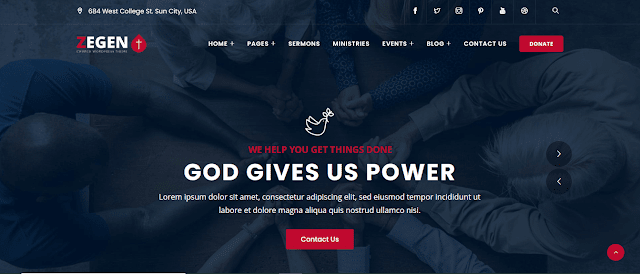 Best Nonprofit Church WordPress Themes With Donation System   Zegen