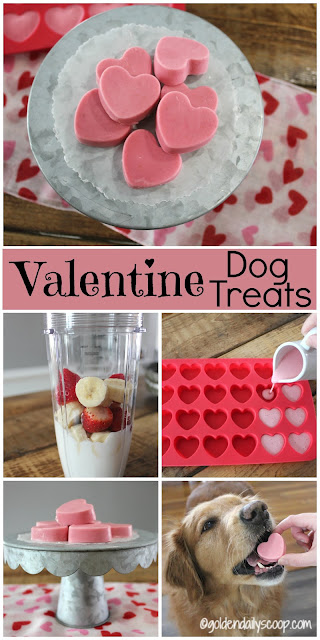 Easy DIY Healthy homemade Valentine Dog Treats