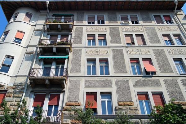 italie trieste liberty casa stabile