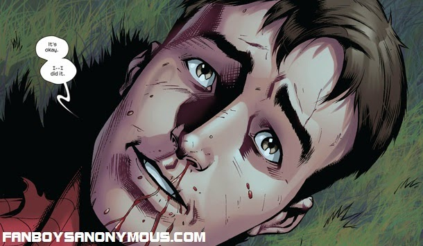 Ultimate Universe Spider-man Peter Parker's final words