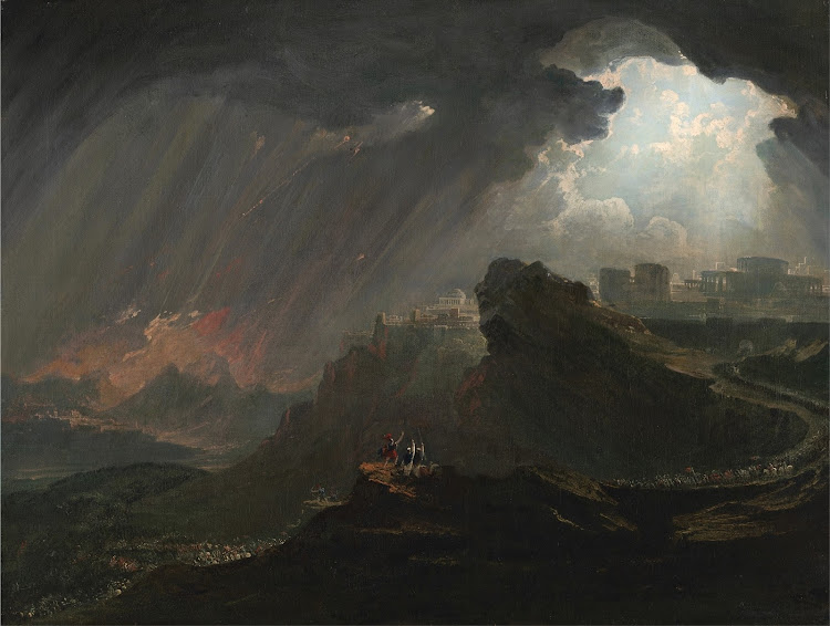 John Martin - Joshua Commanding the Sun to Stand Still (c.1840)