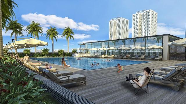 Bể bơi ngoài trời chung cư Mon City Mỹ Đình