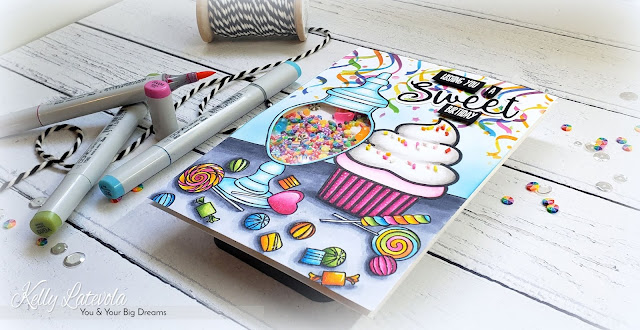 You and Your Big Dreams: Sweet Birthday Candy Shaker Card: Happy