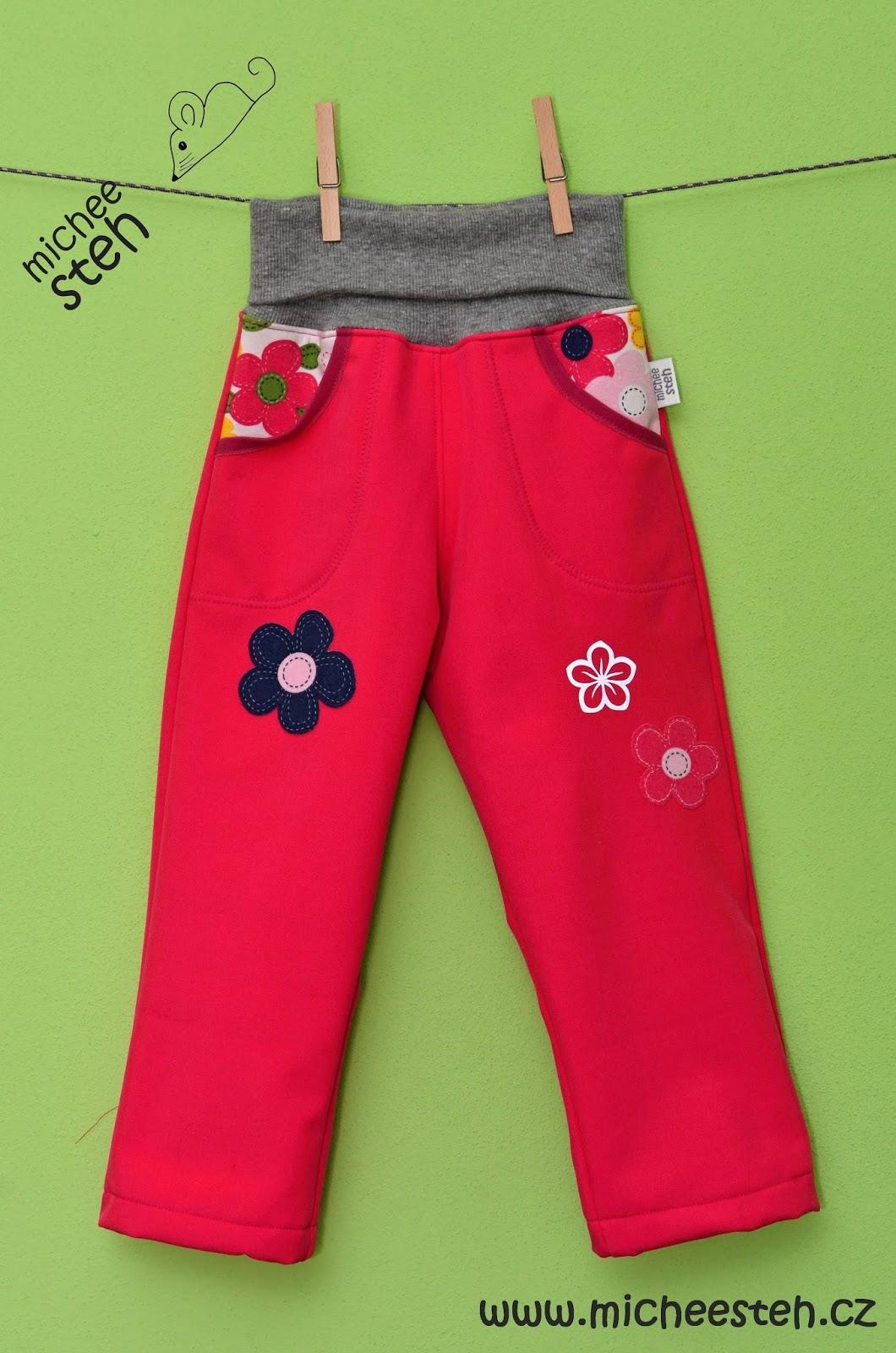 michee steh - šití a tvoření pro radost  Zimní soft kalhoty 4249a22103