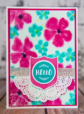 Bright Floral Hello Card with a Video Tutorial using Stampin' Up! UK Supplies - buy them here