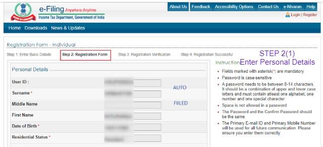 Efiling Registration