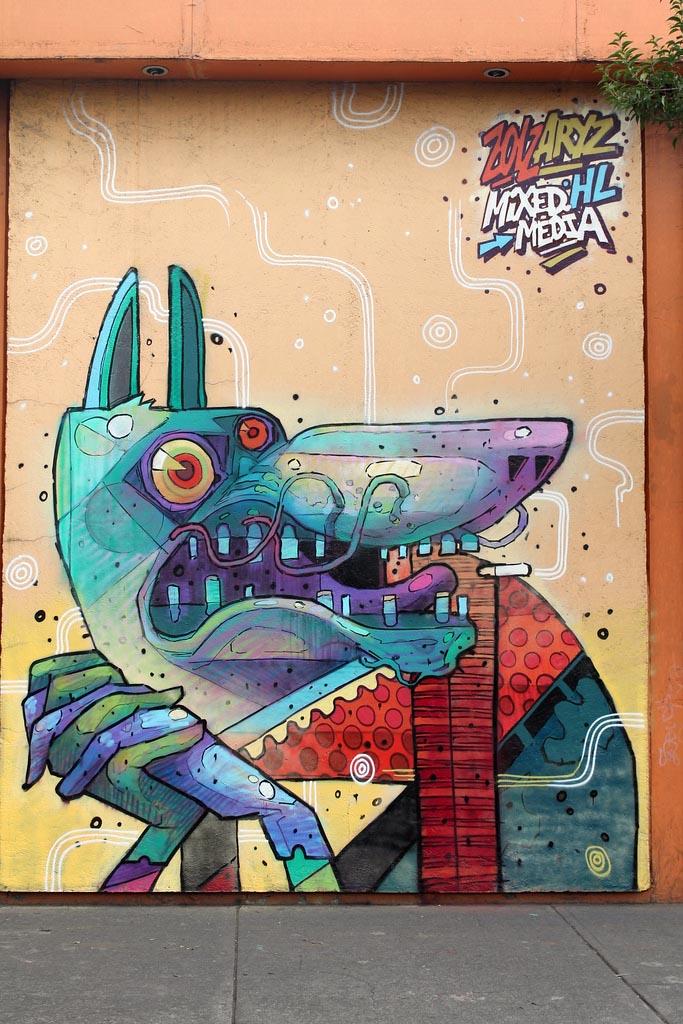 Aryz X Saner New Mural In Mexico City