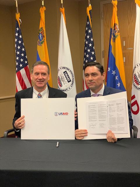 LATINOAMÉRICA: Trump y Guaidó suscribieron acuerdo histórico de cooperación para la libertad y la reconstrucción de Venezuela.