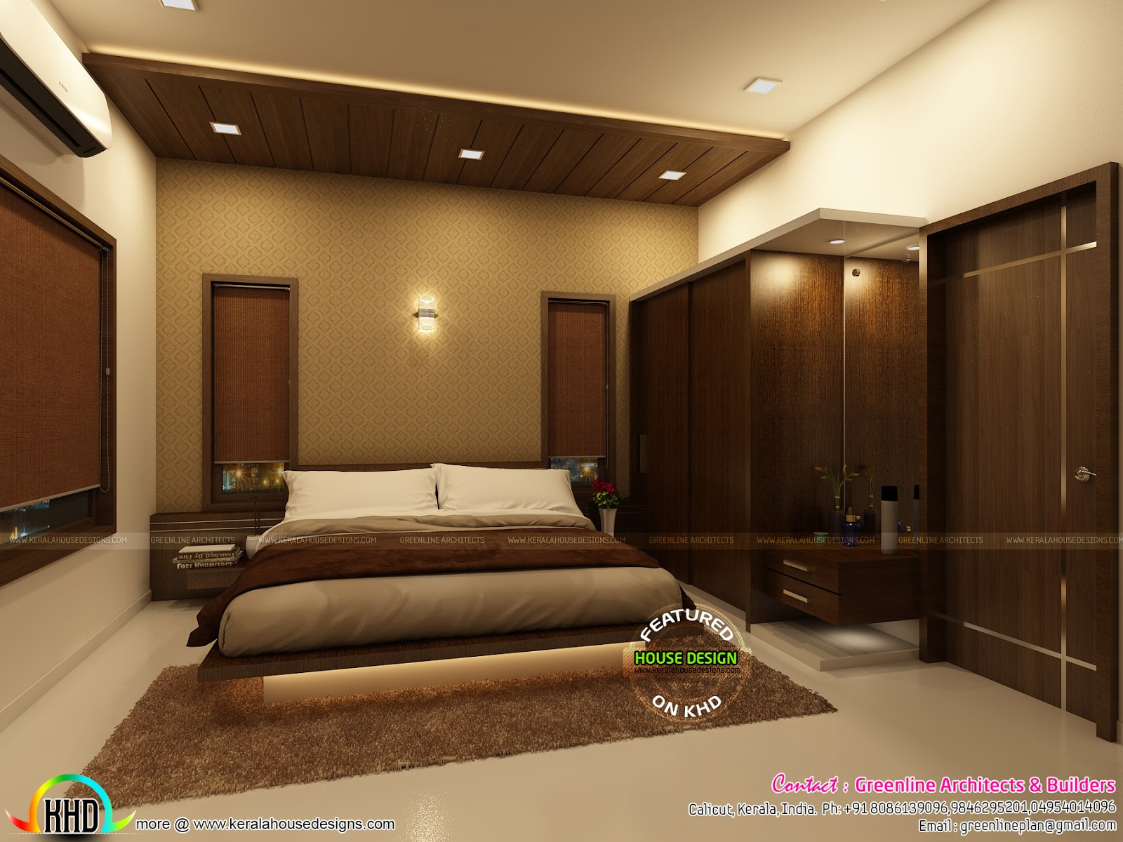 Home interior by greenline architects kerala home design for Interior design for living room and bedroom