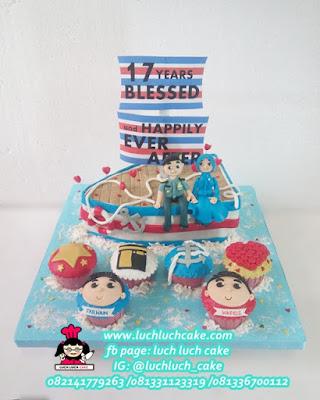 Kue Tart Pelaut Tema Angkatan Laut