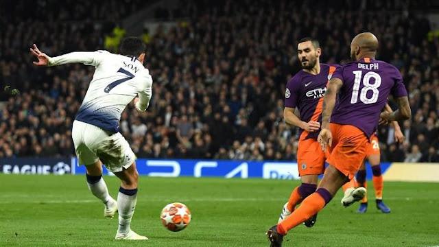 Hasil Liga Champions: Son Menangkan Tottenham atas Man City