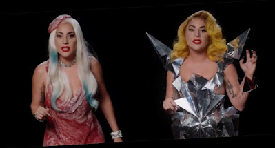 Lady Gaga Wears Her Iconic Outfits Again for New Voting PSA !