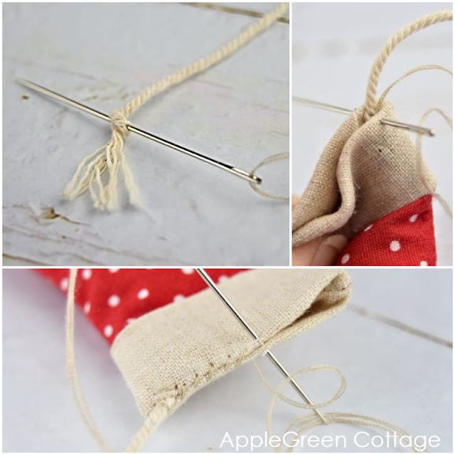 sewing mitten ornament