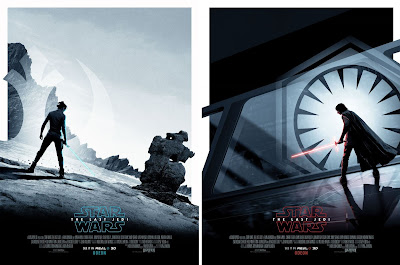 Odeon Cinemas Exclusive Star Wars The Last Jedi RealD 3D Movie Posters by Matt Ferguson