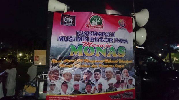 Berjalan Kaki Menuju Monas, Umat Islam Bogor: Kami Mencontoh Rasulullah