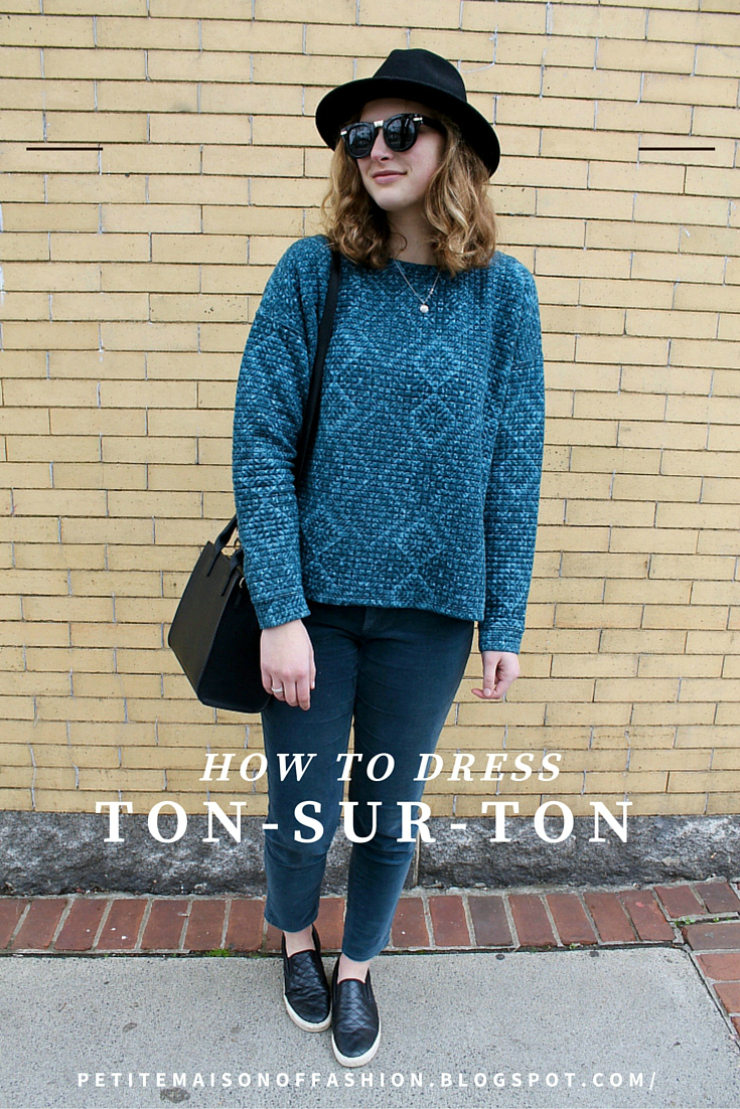 Ton sur ton dressing in peacock blue, fashion