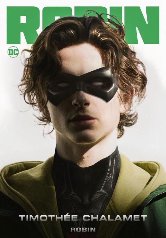 Fan art de Timothée Chalamet como Robin en The Batman