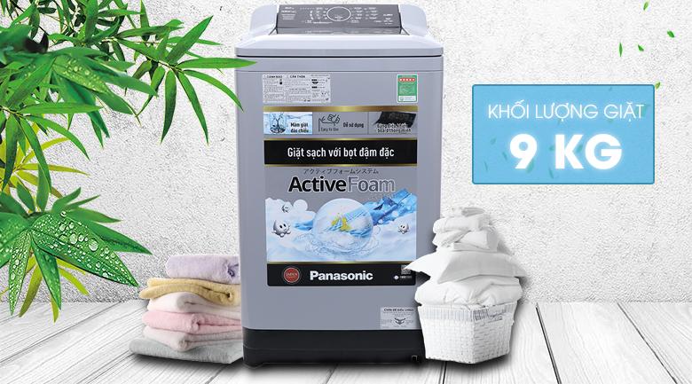 Thiết kế đơn giản, bảng hiển thị tiếng Việt dễ sử dụng Máy giặt Panasonic NA-F90A4BRV