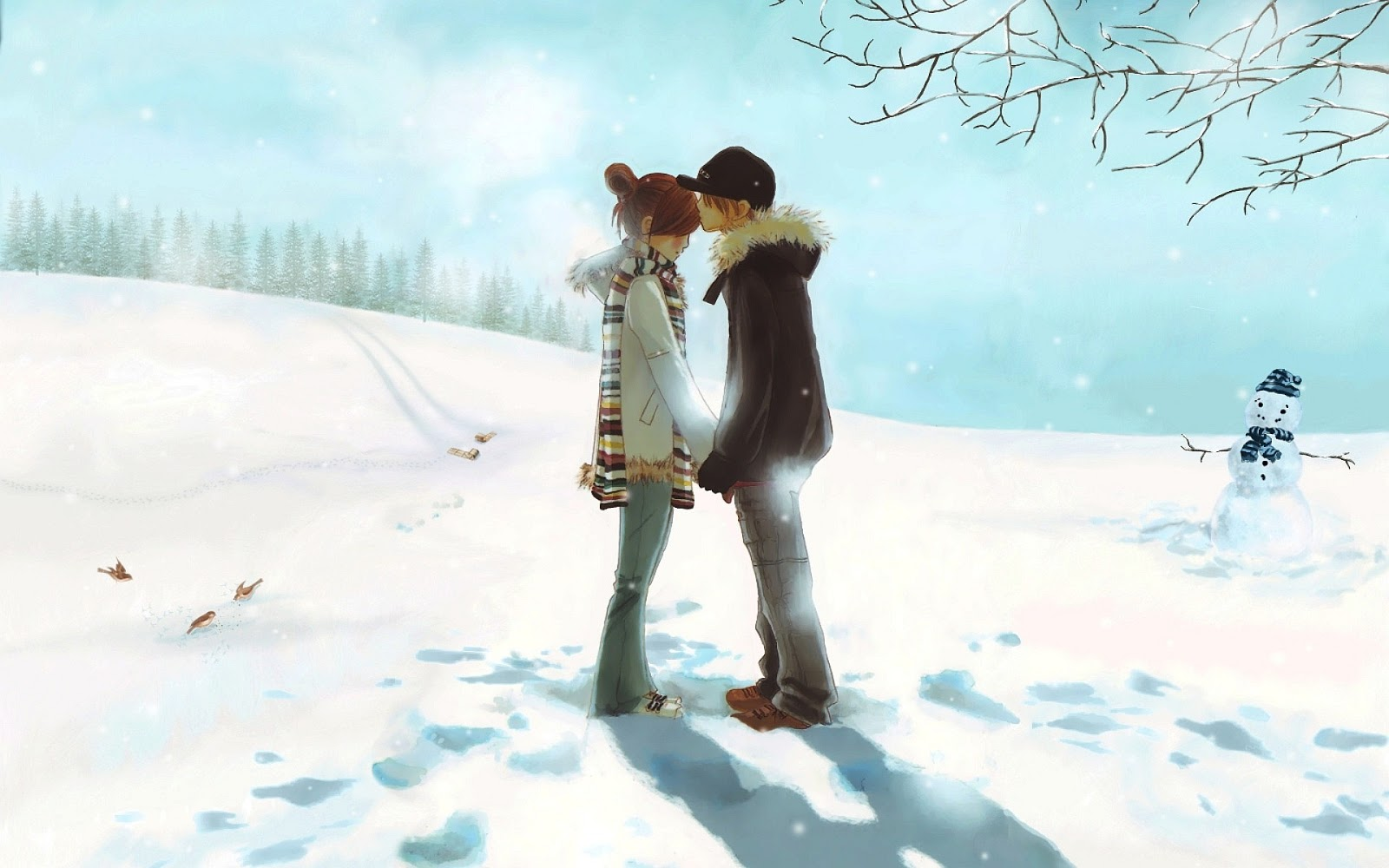 Love Couple Kiss Wallpaper Free Download