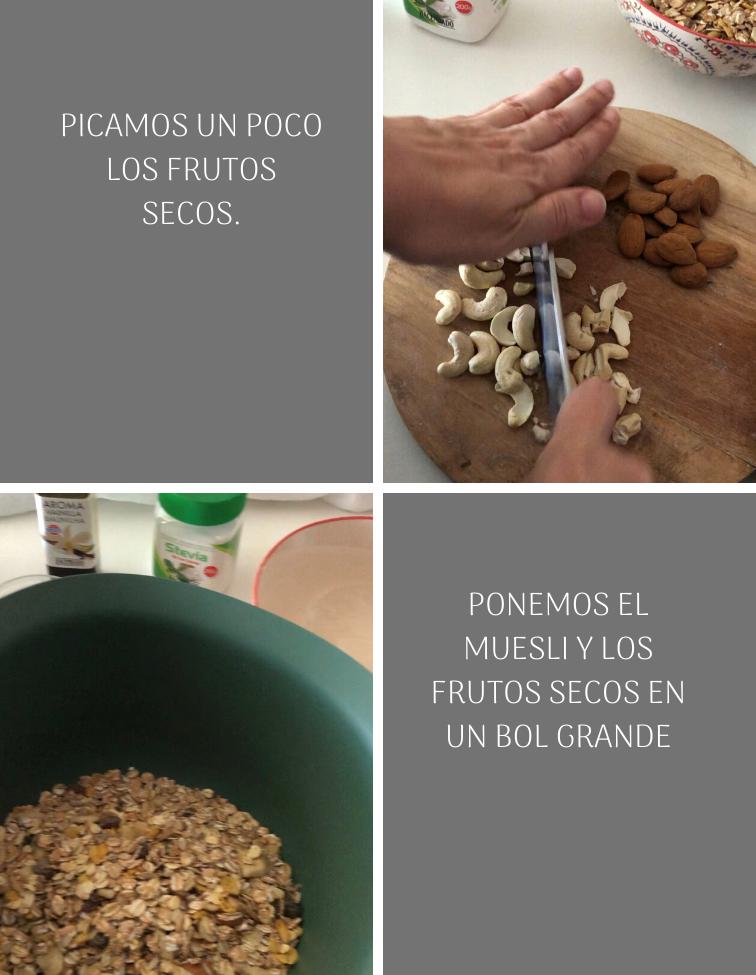preparación-barritas-de-cereales-y-frutos-secos-saludables-sin-azúcar