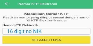 masukan nomor e-KTP