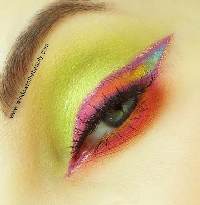Green Lime makeup Look