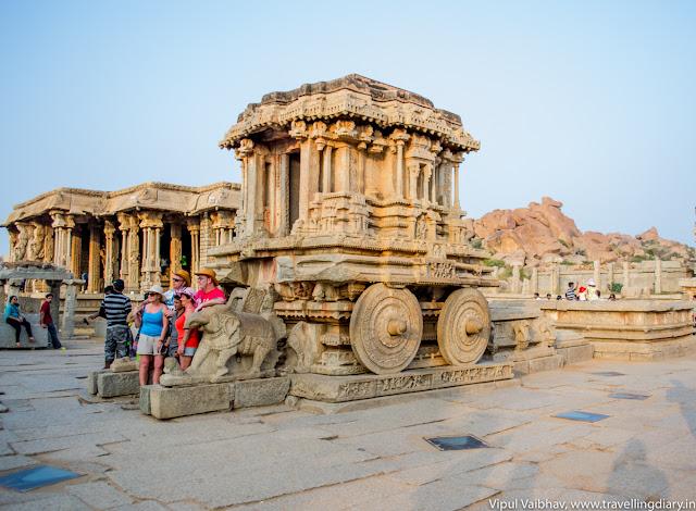 Chariot, vitthala temple, hampi