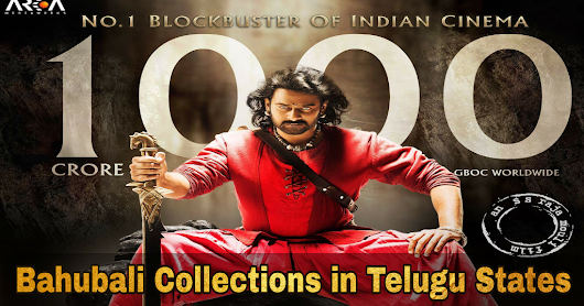 Bahubali 2 Area wise Collection in Telugu States