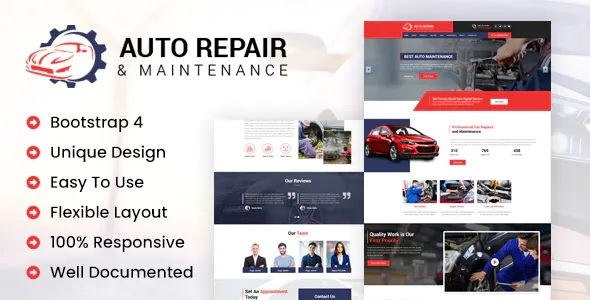 Best Auto Repair Responsive Template