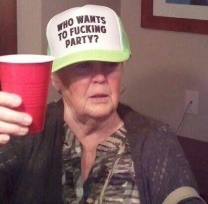 Who Wants To Fucking Party grandma hat.  PYGear.com