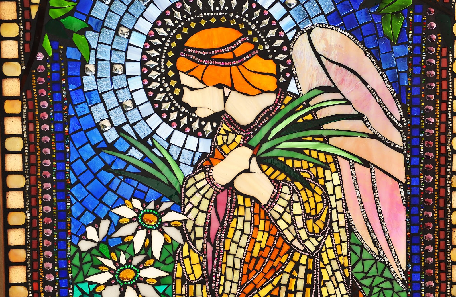 Kathleen Dalrymple Glass Artist Angel Window Glass On Glass Mosaic Window